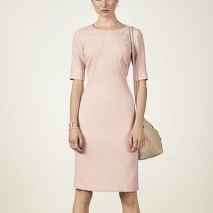 Eliza J Crepe Sheath Dress Pink